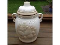 Rumtopf preserving jar.