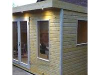 New fully insulated and double glazed garden rooms summer office space
