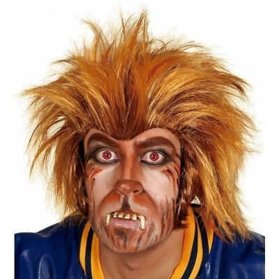 Werwolf Perücke Wolfman Teen Wolf Herren Halloween Kostüm