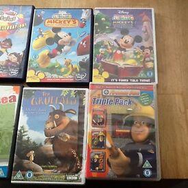 Mixture of 14 Kids DVD's