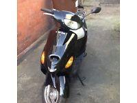 Black scooter 49cc sports
