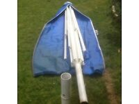 Large and robust garden parasol