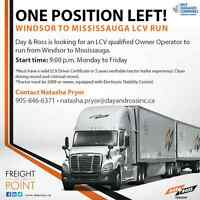 Day & Ross is looking for an LCV Owner Operator!
