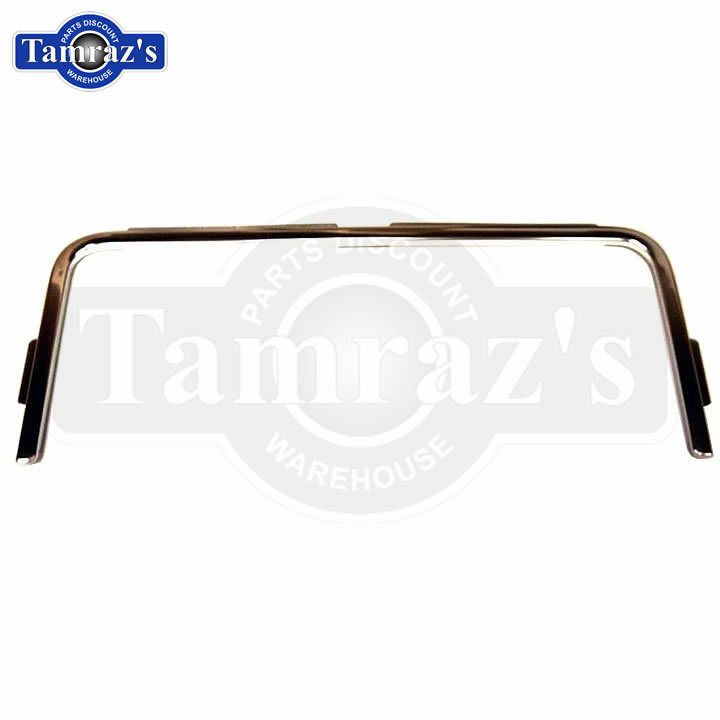 86-88 Monte Carlo LS Trunk Deck Lid Edge Anodized Chrome