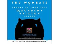 The Wombats @O2 academy Brixton - 2 tickets