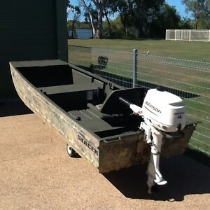 Stacer 3.60 car topper and 4hp Johnson 4 stroke Winfield Bundaberg Surrounds Preview