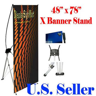 X Banner Stand 48 X 78 Trade Show Display Free Bag Pop Up Xl Jumbo