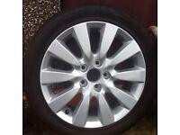HONDA civic wheel and tyre 225/45/r17.