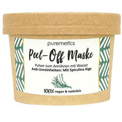 Peel-Off Maske Anti Unreinheiten Spirulina Alge - Puremetics zero waste vegan