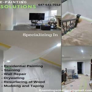 Professional Painting Services $1.70 Per sqft including Paint.