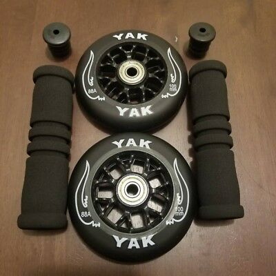 Replacement Set for Razor Pro Scooter 100mm Wheels w/ Bearings & Handle Grips! (Pro Scooter Wheels)