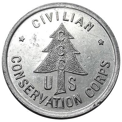 Minnesota Token - CCC Camp 3710, Houston MN, Civilian Conservation Corps, 1930s
