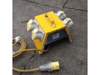 110v Tool 4 Way Splitter Box