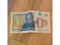 UNIQUE £5 NOTES FOR SALE