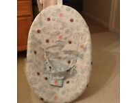Unisex Baby Bouncer,detaches easy to wash & folds down easy to transport.