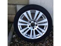 """Mercedes Benz 17"""" alloys with Avon tyres (4)"""