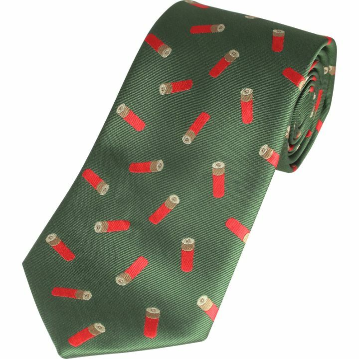Jack Pyke Neck Tie Partridge Game Shooting Country Gift Green Wine