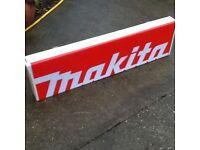Large Makita Shop Display Sign