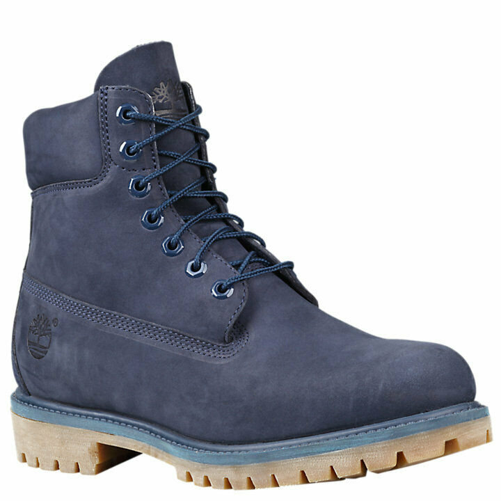 New Timberland Men's Boot 6 Inch Premium Waterproof Boots (6718B) Navy
