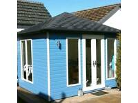 New high quality fully insulated and double glazed garden room, cabin, summer house and office
