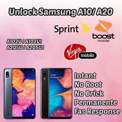 Remote Unlock Samsung A10 A20 Sprint Boost Mobile Virgin