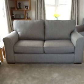 Sofa bed, matching 3-seater sofa and chair