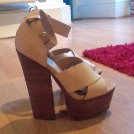 High heeled sandals new size 7 UK