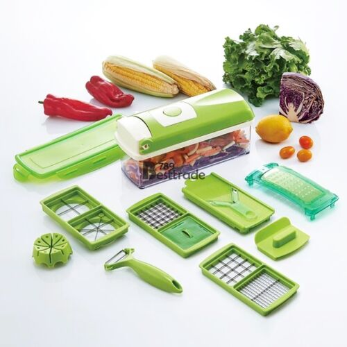 12in1 Vegetable Fruits Potato Dicer Food Slicer ...