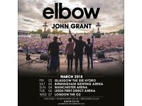 ELBOW SELL OUT HOSPITALITY TICKETS - FULL HOSPITALITY AT GENTING ARENA SAT 3 MARCH 2018