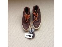 Vans - brown leather vans size 6.5