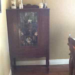 Antique Dining Room Curio Cabinet