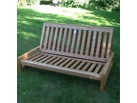 Double Futon Sofa Bed Frame in Birch
