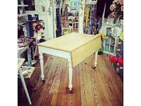 Large shabby chic kitchen dining table