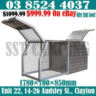 Aluminium Half Dog Cage Half Canopy Gullwing Tool Box 178x70x85