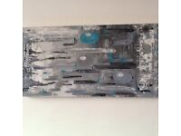 "Abstract wall art:Lava stone""An original hand painted canvas 150x50cm"