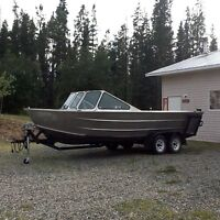 21FT custom welded aluminum boat & Tandem axle Trailer