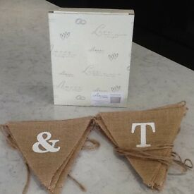 Wedding Hessian Bunting and Guest Book