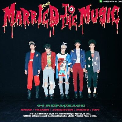 SHINEE [MARRIED TO THE MUSIC] 4th Repackage Album CD+Photo Book+Card+GIFT SEALED
