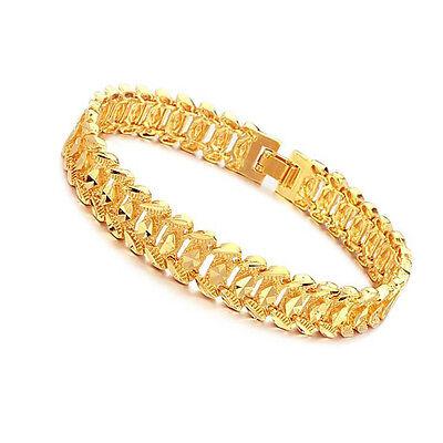 """Unisex Mens Women's 18K Gold Filled Bracelet 8"""" G4"""