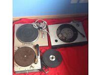 3 x vintage turntables