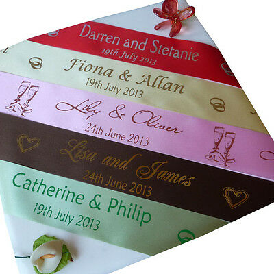 PERSONALISED RIBBON FOR WEDDING CAR 45mm width x 5 Metres DIY car decoration - Personalized Ribbon For Wedding
