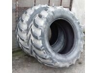 TRACTOR TYRES 480/65/28 GOODYEAR OPTITRACS RADIALS WITH 20% TREAD GOOD CONDITION £100 FOR BOTH TYRES