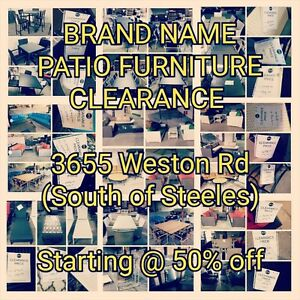 *** Brand Name, High End Patio Furniture Clearance sale now on