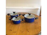 Set of 3 new heavy duty/non-stick pans