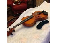 Violin and case. Suit learner