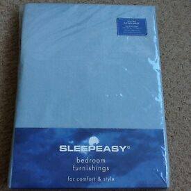 Blue king size fitted sheet