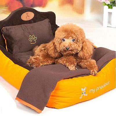 Dog/Cat Pet Bed pillow Blankets carpet set Warm Cushion Sofa Couch Mat Kennel