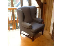 MULTIYORK WING ARMCHAIR, GOOD CONDITION.
