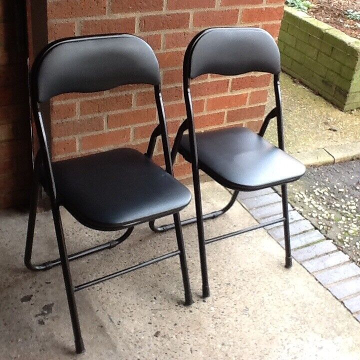 Four fold up chairs. VGC