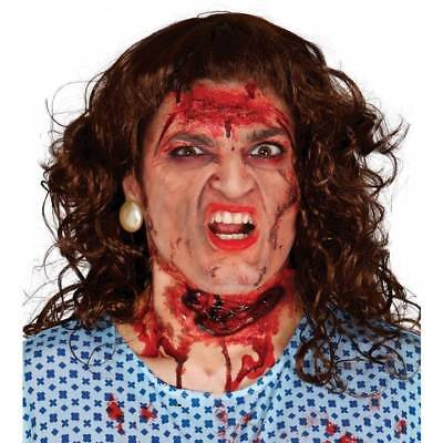 SLASHED THROAT Latex FX Make Up Special Effects Adults Halloween Fancy Dress